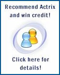 Recommend Actrix and win credit!